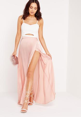 satin-wrap-maxi-skirt-pink