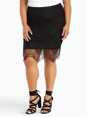 Torrid Lace Pencil Skirt-$20.98